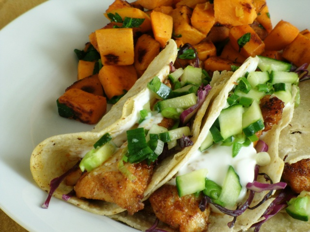 More Than One Way to Skin a Catfish: Catfish Tacos with Cucumber Salsa