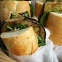 Geocache This: Grilled Eggplant Sandwich with Creamy Mushroom Spread