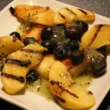 Grilled Fruit Salad with Kiwi Sauce