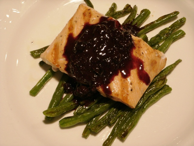 My Blue(berry) Heaven: Grilled Salmon with Blueberry Dijon Sauce