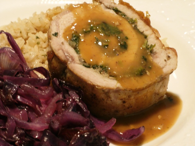 Rolling the Dice: Mushroom and Spinach Stuffed Pork Loin