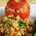 Barley Any Trouble at All: Sausage and Barley Stuffed Tomatoes