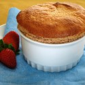 White Chocolate Strawberry Souffle