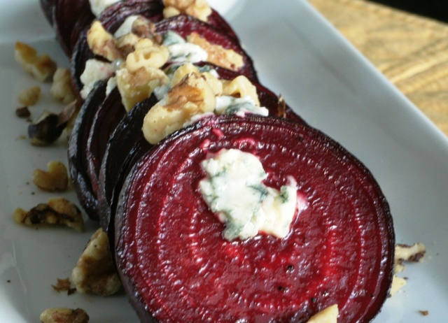 Just Beet It: Balsamic Roasted Beets with Gorgonzola and Walnuts