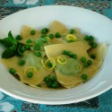 Spring on a Fork: Pea Pesto Ravioli