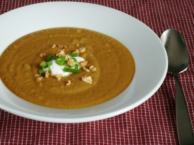 Native Born: Spicy Pumpkin Peanut Soup